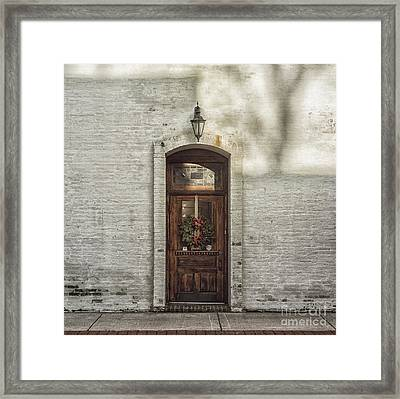 Holiday Door Framed Print