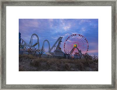 Holiday Ferris Wheel Framed Print