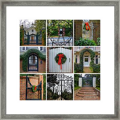 Holiday Gates Of Aiken's Winter Colony Framed Print