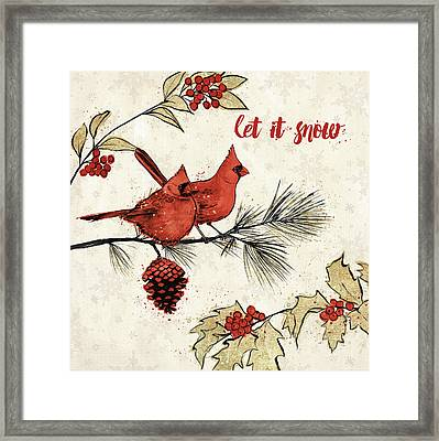 Holiday Gem II Framed Print by Janelle Penner