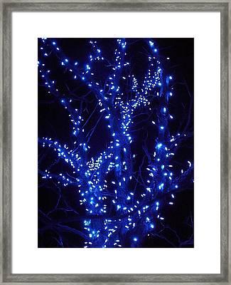 Holiday Glow Blue Framed Print by Darren Robinson