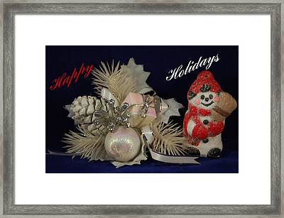 Holiday Greeting Framed Print