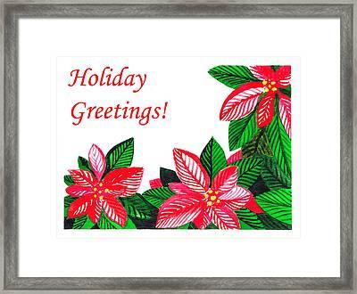 Holiday Greetings Framed Print by Irina Sztukowski