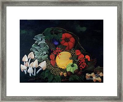 Holiday Harvest Framed Print by D L Gerring