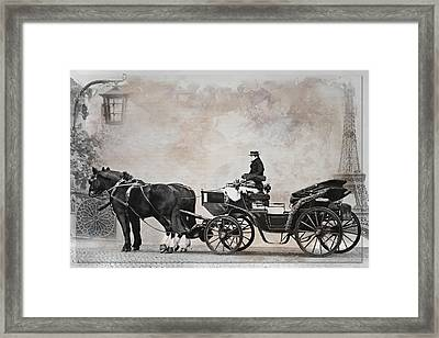 Holiday In Paris Framed Print by Heike Hultsch