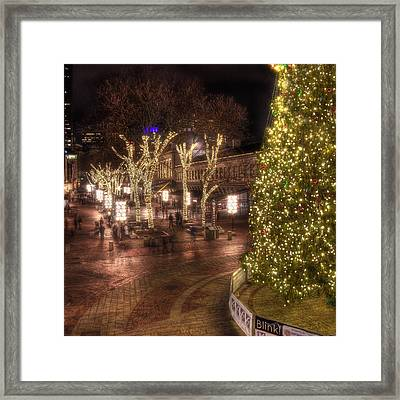 Holiday In Quincy Market Framed Print by Joann Vitali