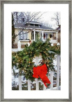 Holiday In The Neighborhood Framed Print