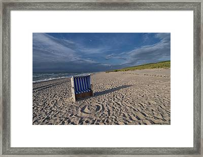 Framed Print featuring the photograph Holiday In The Sand by Juergen Klust
