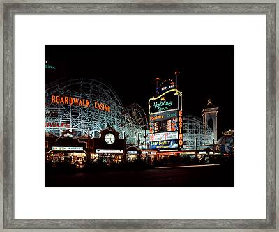 Holiday Inn Boardwalk And Casino Las Vegas Framed Print by Mountain Dreams
