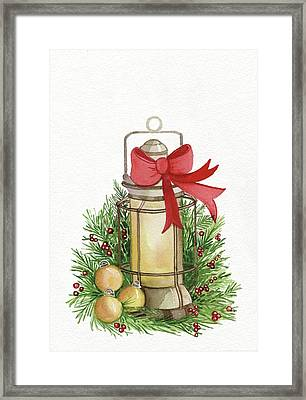 Holiday Lantern II Framed Print
