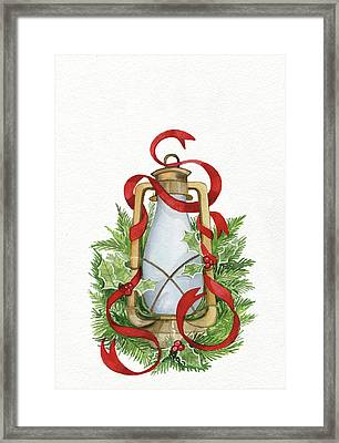 Holiday Lantern IIi Framed Print