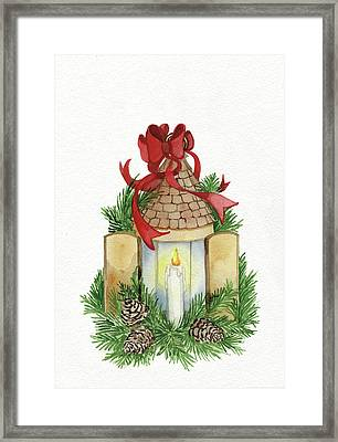 Holiday Lantern Iv Framed Print