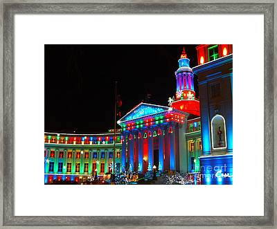 Holiday Lights 2012 Denver City And County Building C5 Framed Print by Feile Case