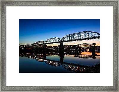 Holiday Lights Chattanooga Framed Print