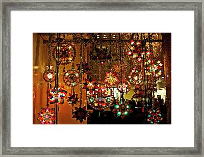 Framed Print featuring the photograph Holiday Lights by Suzanne Stout