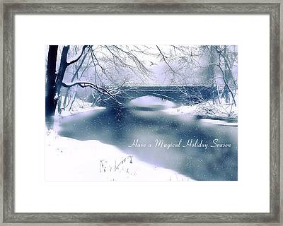 Holiday Magic Framed Print by Jessica Jenney