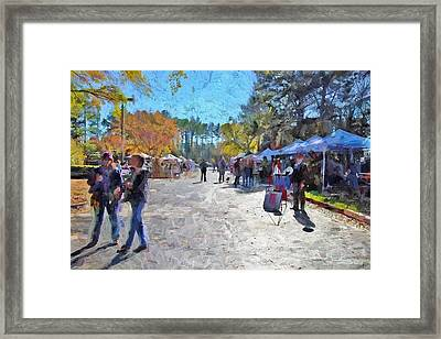 Holiday Market Framed Print by Ludwig Keck