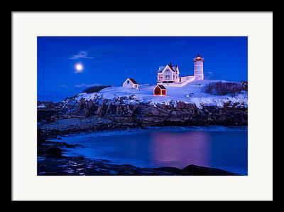Maine Seascapes Framed Prints