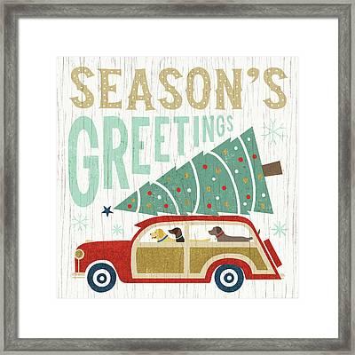 Holiday On Wheels II Framed Print