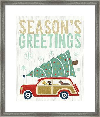 Holiday On Wheels II V2 Framed Print