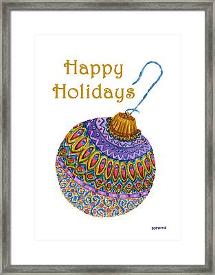 Holiday Ornament Framed Print by Debra Spinks