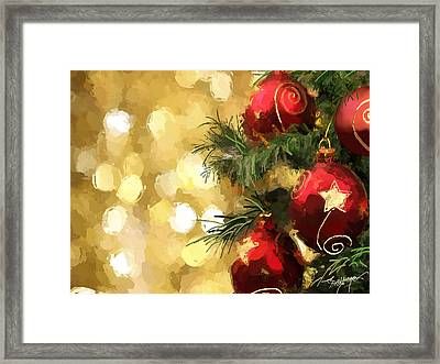 Holiday Ornaments Framed Print by Anthony Fishburne