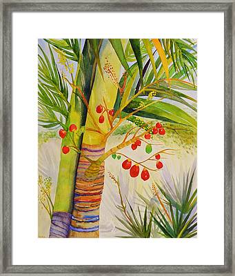 Holiday Palm Framed Print
