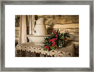 Holiday Pitcher Framed Print by Deb Barchus