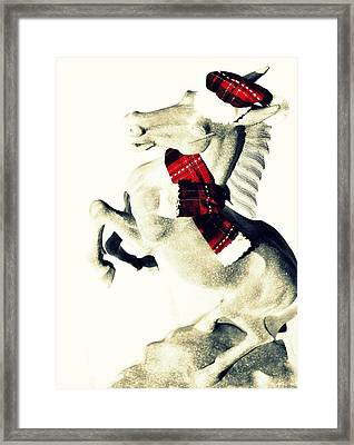 Holiday Plaid Framed Print by JAMART Photography