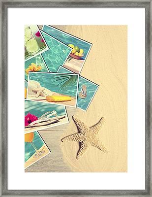 Holiday Postcards Framed Print by Amanda Elwell