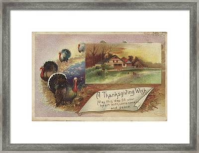 Holiday Postcards Vii Framed Print