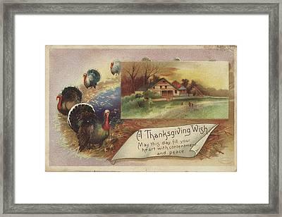 Holiday Postcards Vii Framed Print by Wild Apple Portfolio
