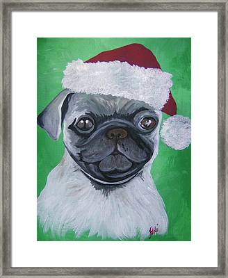 Holiday Pug Framed Print