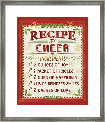 Holiday Recipe I Framed Print by Pela Studio