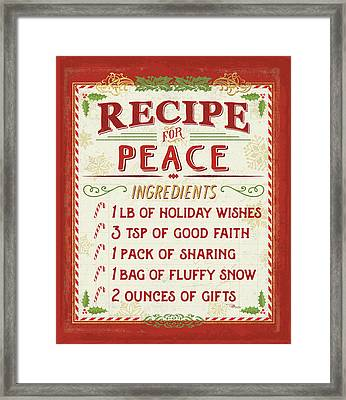 Holiday Recipe II Framed Print