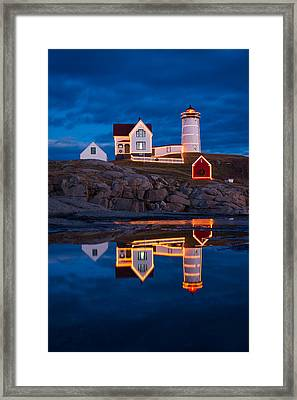 Holiday Reflection Framed Print by Michael Blanchette