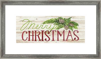 Holiday Sayings II Wood Framed Print by Kathleen Parr Mckenna