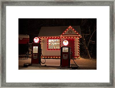 Holiday Service Station Framed Print