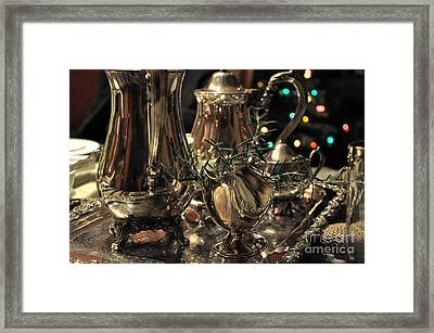Holiday Silver  2 Framed Print by Tanya  Searcy