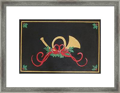 Holiday Sounds With Mistletoe Framed Print by Cindy Micklos