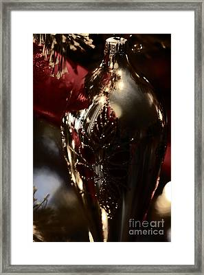 Framed Print featuring the photograph Holiday Sparkle In Red by Linda Shafer