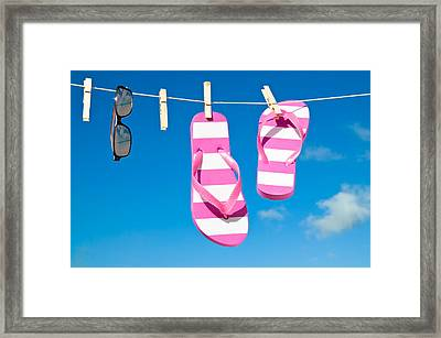 Holiday Washing Line Framed Print