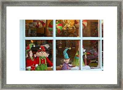 Framed Print featuring the photograph Holiday Window by Ann Murphy