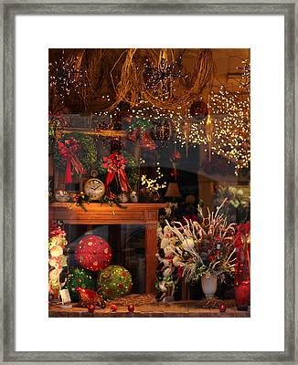 Holiday Window Framed Print