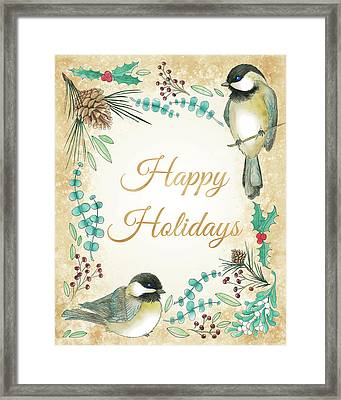 Holiday Wishes II Framed Print
