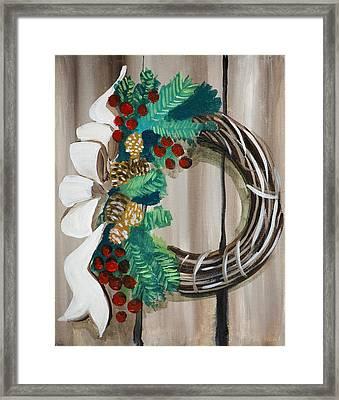 Holiday Wreath 2 Framed Print