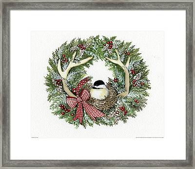 Holiday Wreath Iv Framed Print by Kathleen Parr Mckenna