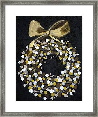 Holiday Wreath Framed Print