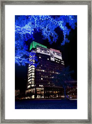Holidays In Blue Framed Print by Greg Kopriva