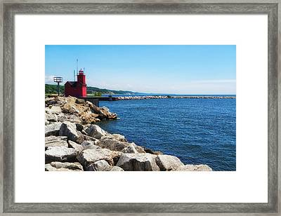 Holland Harbor Light Framed Print